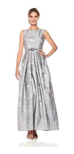 Vestido De Gala Elisa J Mujer Con Cinturon De Abalorio