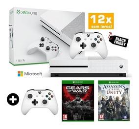 Xbox One S 1tb Slim C/ 2 Controles + Brinde Hrd Blu Ray 4k