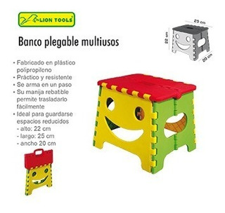 Banco Plegable De Niño Lion Tools