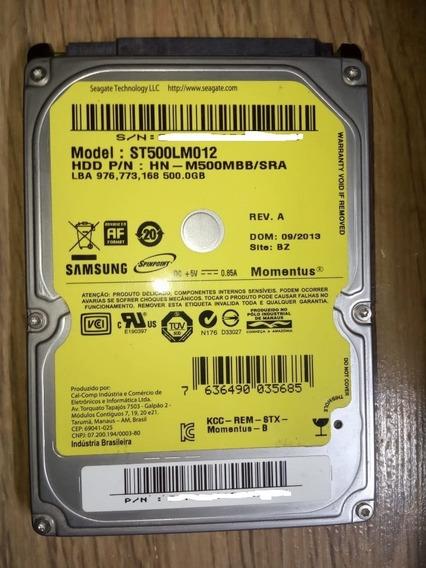 Hd Note Sata 3 500gb Samsung Momentus Hn-m500mbb/sra