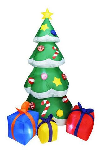 Árbol De Navidad Inflable De 7 Pies Con Cajas De Regalo