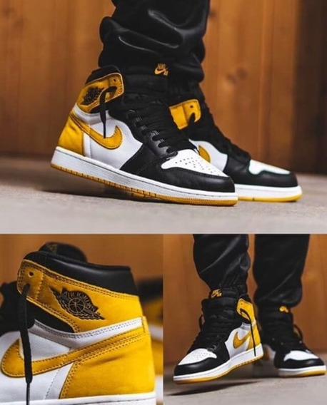 Tenis Jordan 1 Yellow Ochre - Ig Teddyssneakers