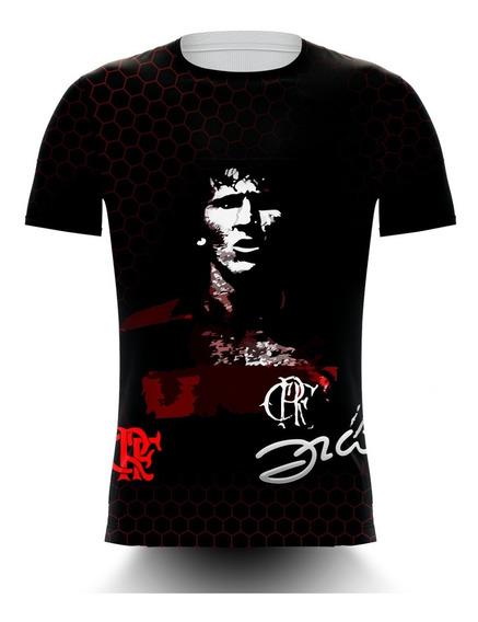 Camiseta Flamengo Zico Preta