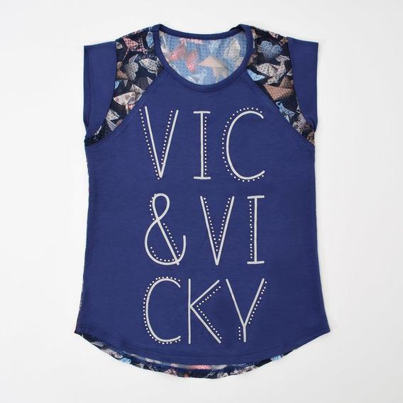 Blusa Azul Vic&vicky