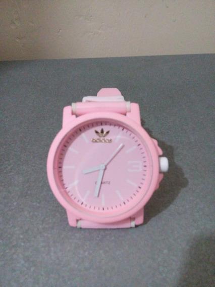 Relógio Rosa Bebê Color Colorido Casual Sport
