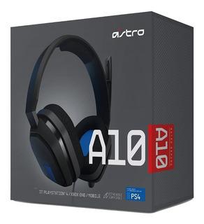 Auriculares Gamer Astro Blue Logitech A10 Ps4 Negro Con Azul