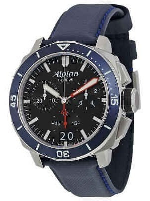 Alpina Seastrong Diver 300 Big Date Chronograph Black Dial