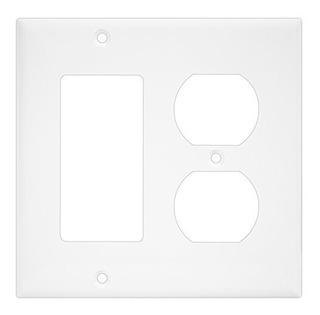 Enerlites 882131 Placa De Pared Dúplex Decorador / Policarb