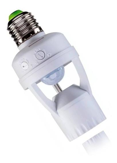 Kit 2 Sensor Presença Com Fotocélula P/ Lâmpada Soquete E27