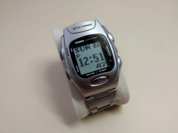 Raro Relógio Casio Wqv-2 Wrist Camera (tira Fotos!)