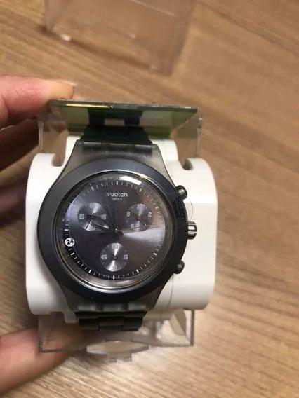 Relógio Swatch Full Bloodeo Original (cinza Chumbo) Novo
