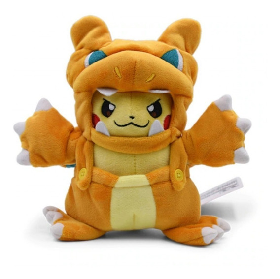 Pikachu Charizard Cosplay 21cm Pelúcia Pokémon Center Origin
