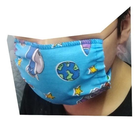 Cubre Boca Azul Infantil