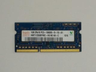 Memoria Ram Sodimm 1gb Ddr3 1333mhz / Pc3-10600 Mca. Hynix