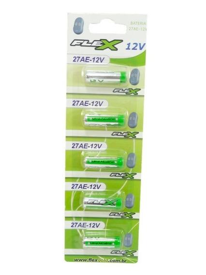 Bateria Pilha 27a Cartela 5 Un Alcalina Flex Alarme Controle