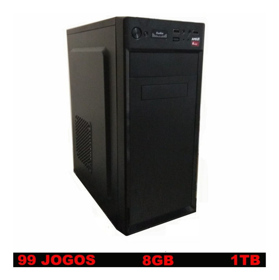 Cpu Gamer Barata Com 99 Jogos 8gb 3.8 Ghz Hd 1000 Gb