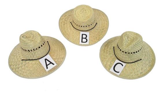 Sombrero De Palma Con Barbiquejo Lote De 50 Piezas A Escoger