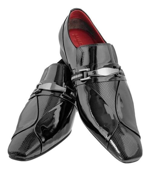 Sapato Masculino Social Bico Longo Stilo Italiano Couro 444