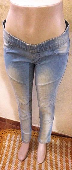 Calça Jeans Claro 44 Estilo Legging