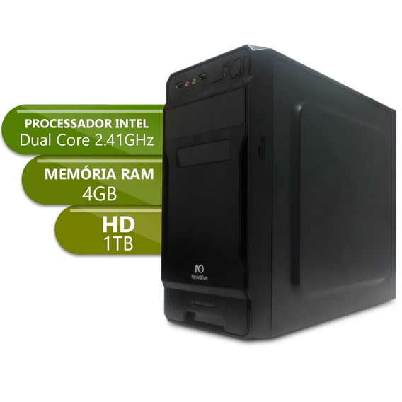 Desktop Dual Core - Ipx1800 - Ddr3 4gb - 1tbgb Basic Xxi X10
