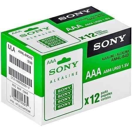 Pilha Alcalina Sony Aaa Palito 12x2 Original Blister
