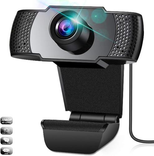 Imagen 1 de 10 de Camara Web 1080p Con Microfono Usb Webcam Para Computadora