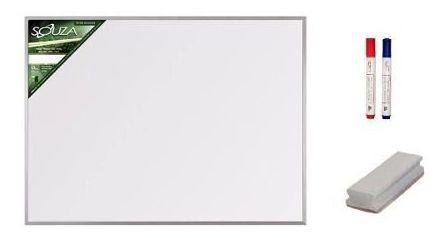Quadro Branco 90x60 Magnético 5612 + 2 Canetas E 1 Apagador
