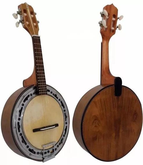 Banjo Toks Elétrico Cor Natural Fosco 110 + Capa Acolchoada
