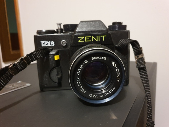 Maquina Fotografica Analogica Zenit 12xs Com Flash Tron S300
