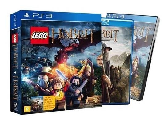 Jogo Playstation 3 Kit Jogo + Filme O Hobbit Novo Lacrado