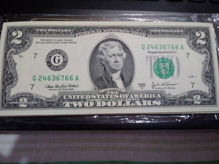 Billetes 2 Dolares 2003 . S/circ. Correlativos. Colección