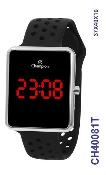 Relógio Digital Unissex Prata Ch40081t Pulseira Em Silicone