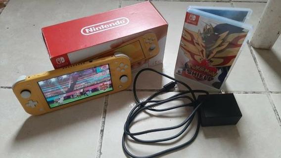 Nintendo Switch Lite Amarelo + 1 Jogo 32gb