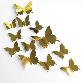 0a36d67592b6 Vinilo Mariposas Azul Espejo Vinilo Decoración Mariposa 12 P