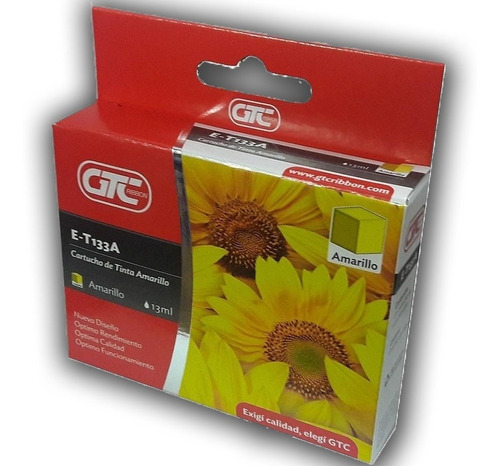 Cartucho Alternativo T133 Amarillo Gtc P/tx125/tx135/t22...