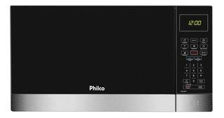 Microondas Philco 26l Pmo26ip Menu Fit Preto Com Inox 110v