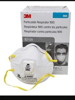 Mascarilla N95 Marca 3m 8210v Respirador X Caja De 10und