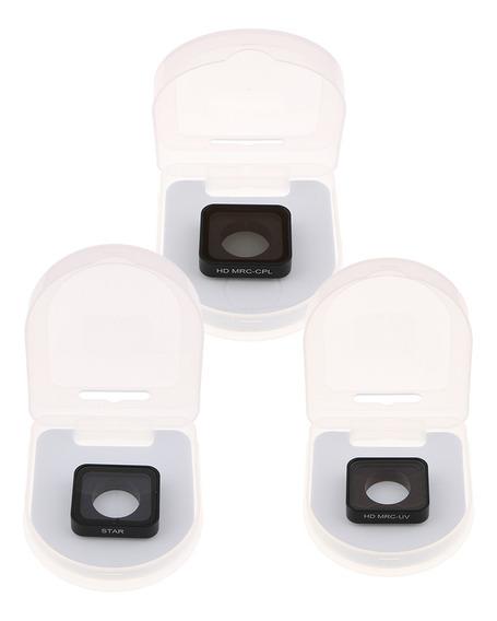 3 Peças Uv Cpl Star Filtro Lente Protetor Protetor Tampa Pro