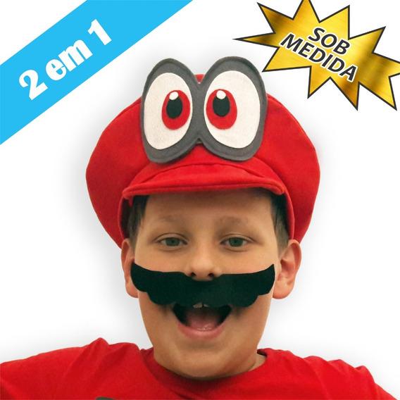 Chapéu / Boina / Boné Super Mario Odyssey / Cappy Nintendo