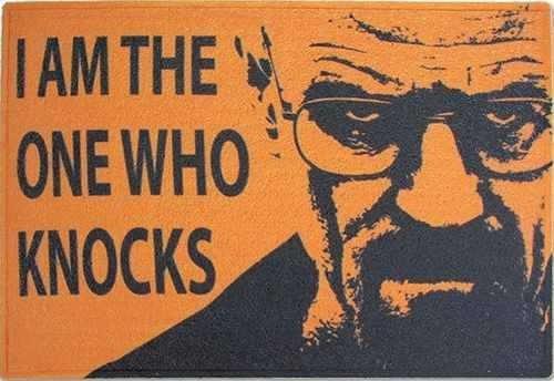 Tapete Capacho Personalizado - I Am The One Who Knocks