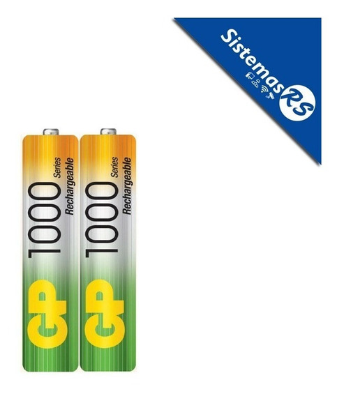 Gp Bateria Pilas Recargable Pack X2 1000mah Aaa