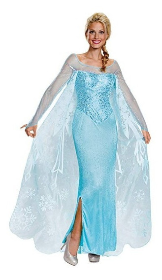 Disfraz Frozen Elsa Princesa Disfraz Halloween Mujer Adulto