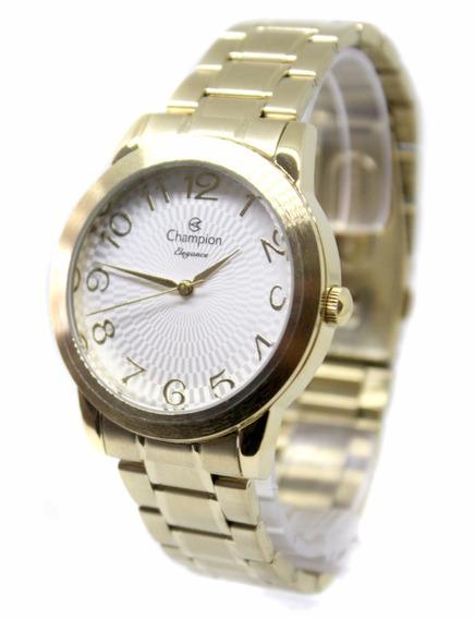 Relógio Feminino Champion Dourado Cn26733h Fretegratis