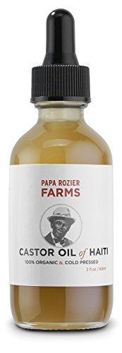Aceite De Ricino De Haití Orgánico  Prensado En Frío 2oz