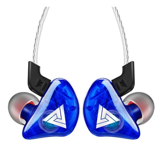 Kit 02 Fone Qkz Ck5 In Ear Retorno Palco + Brinde Plug Adapt