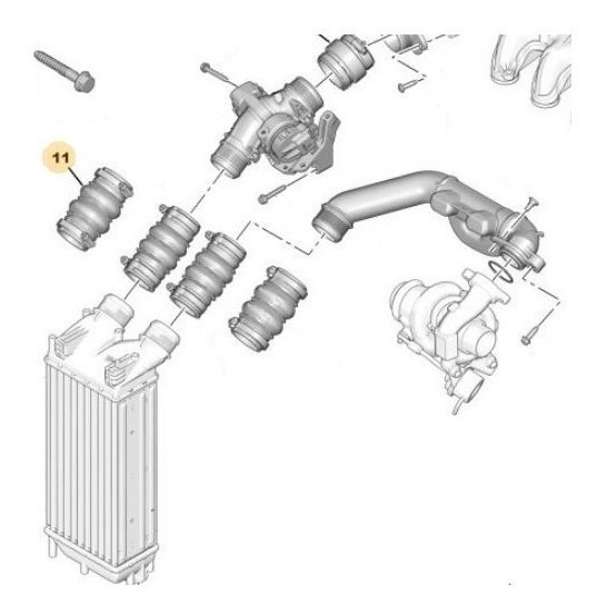 Tubo De Aire De Sobrealimentación Peugeot Partner Nva 1.6 D