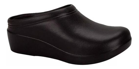 Calzado Zapato Sueco Mujer Hombre Doctor Chef Cocinero Negro