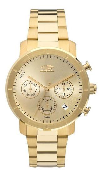 Relógio Feminino Dourado Mormaii Mojp25caq/4d Original + Nf