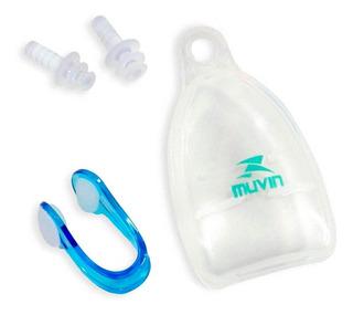 Protetor De Ouvido E Nariz - Azul - Muvin Pon-100