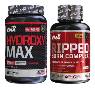 Quemador Hydroxy Max X60 Tab + Ripped Burn Hd X60 Cap Ena